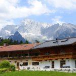 vakantiewoning Frechenlehen met op de achtergrond bergen